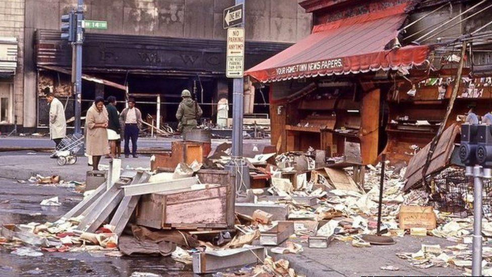 1968年華盛頓特區騷亂後的廢墟