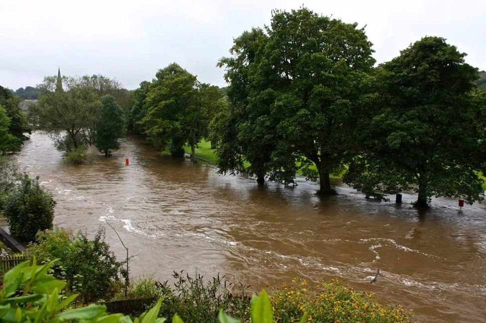 Unusually high water levels in the River Wansbeck