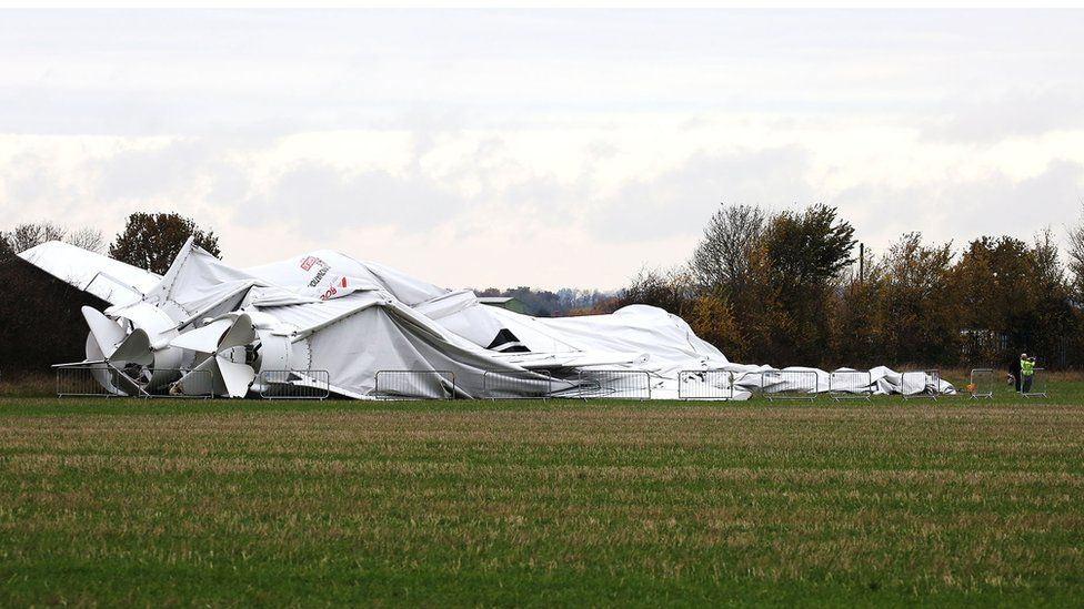 collapsed Airlander