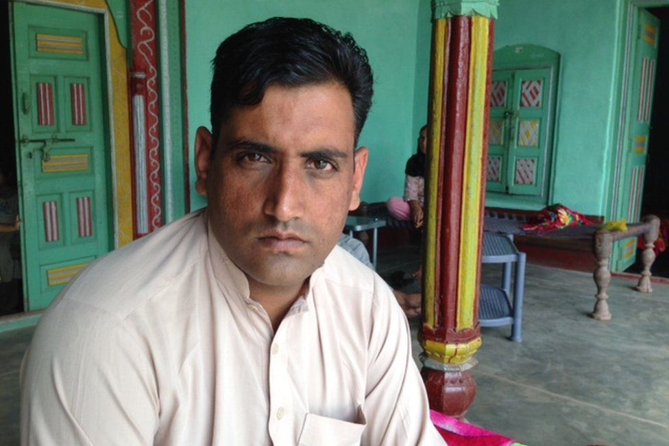 Picture of Tariq Mohammed in Pakistan administered Kashmir in August 2015