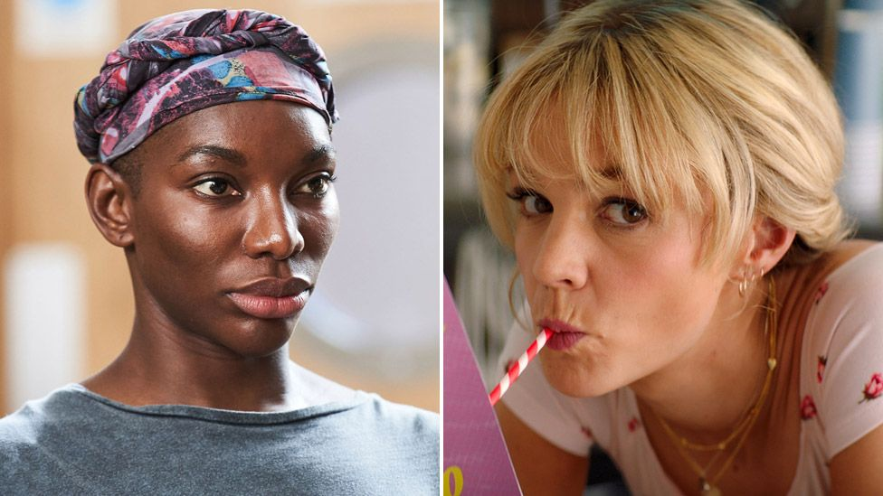 Michaela Coel in I May Destroy You and Carey Mulligan in Promising Young Woman
