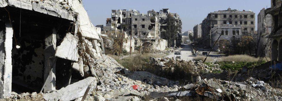 Ruins of Aleppo. 22 Jan 2017