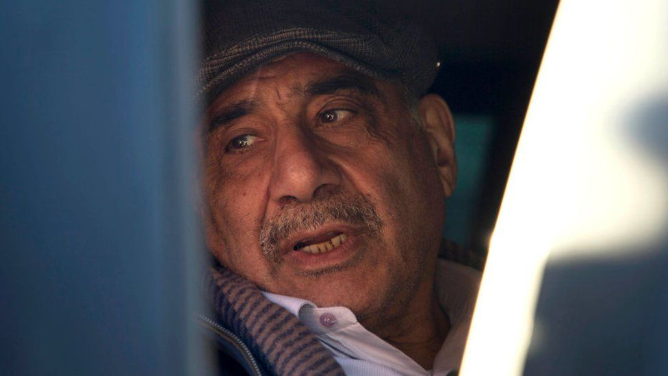 Iraqi Prime Minister Adel Abdul Mahdi is seen as he departs the southern city of Basra on 20 January 2019