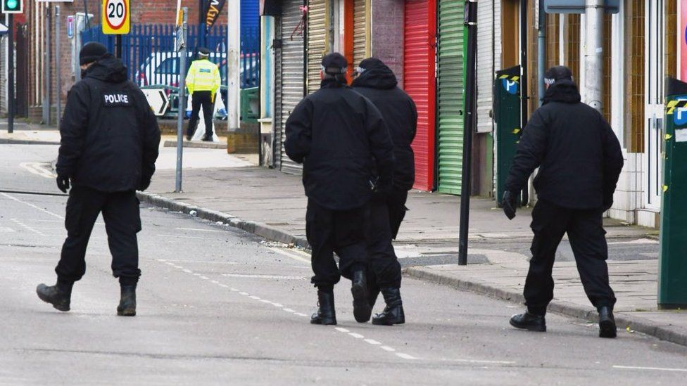 Officers at the scene