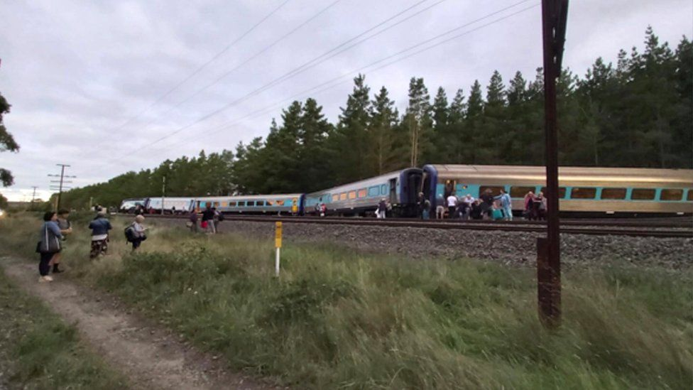 At least four carriages were derailed in the accident on Thursday