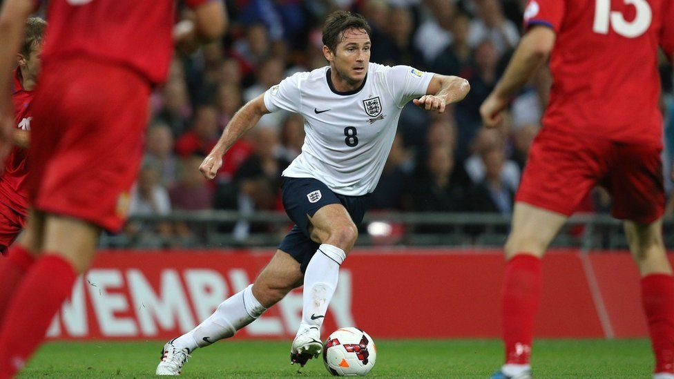 Frank Lampard playing for England