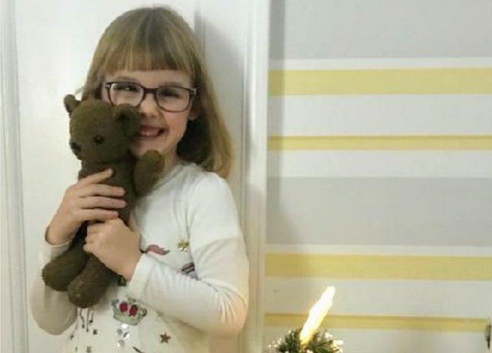 Eva and Frankfurter the teddy bear