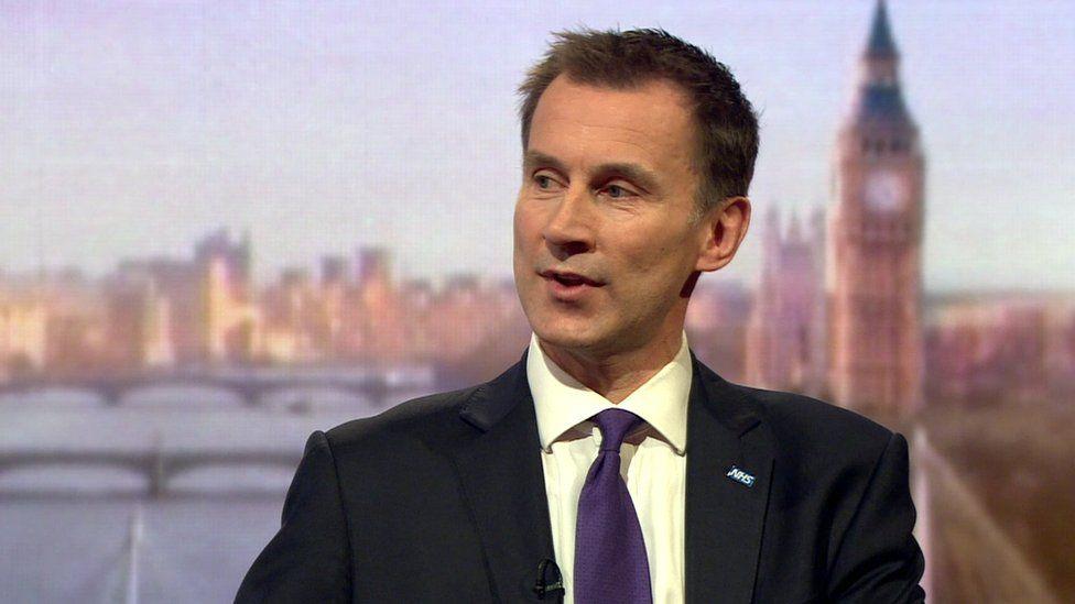 Jeremy Hunt, health secretary