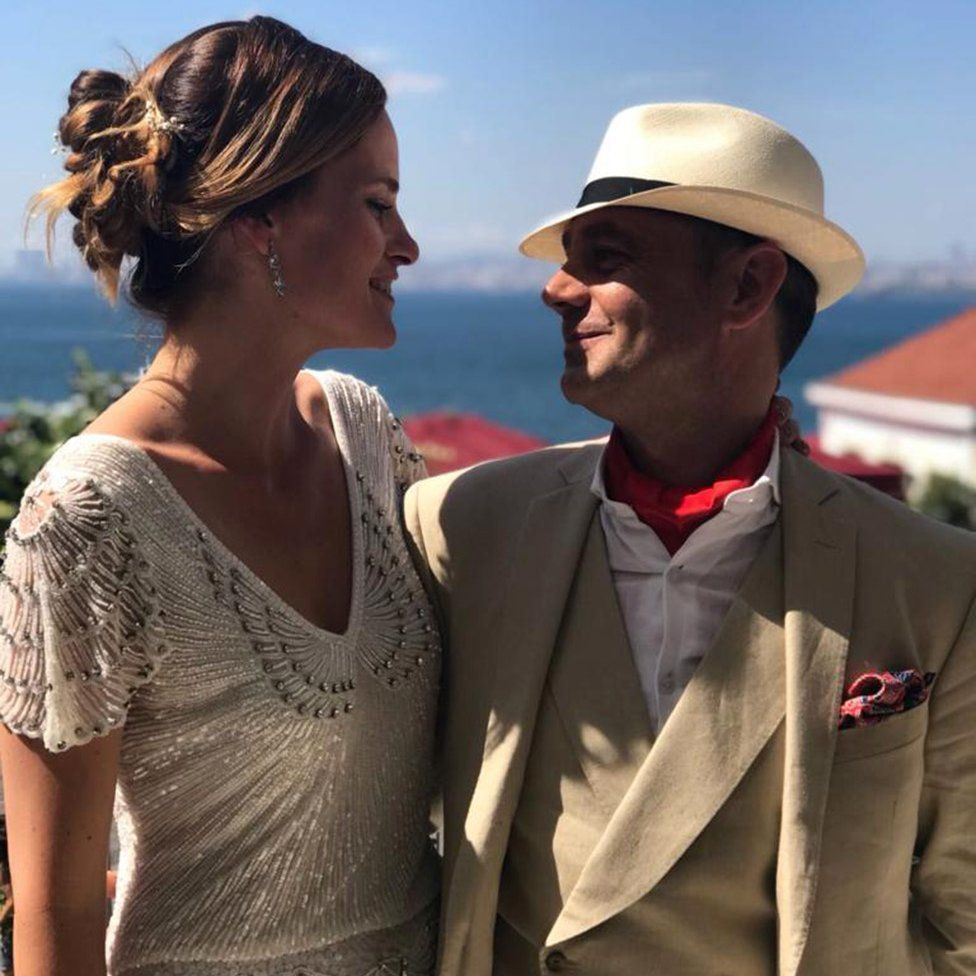 Emma Winberg and James Le Mesurier at their wedding