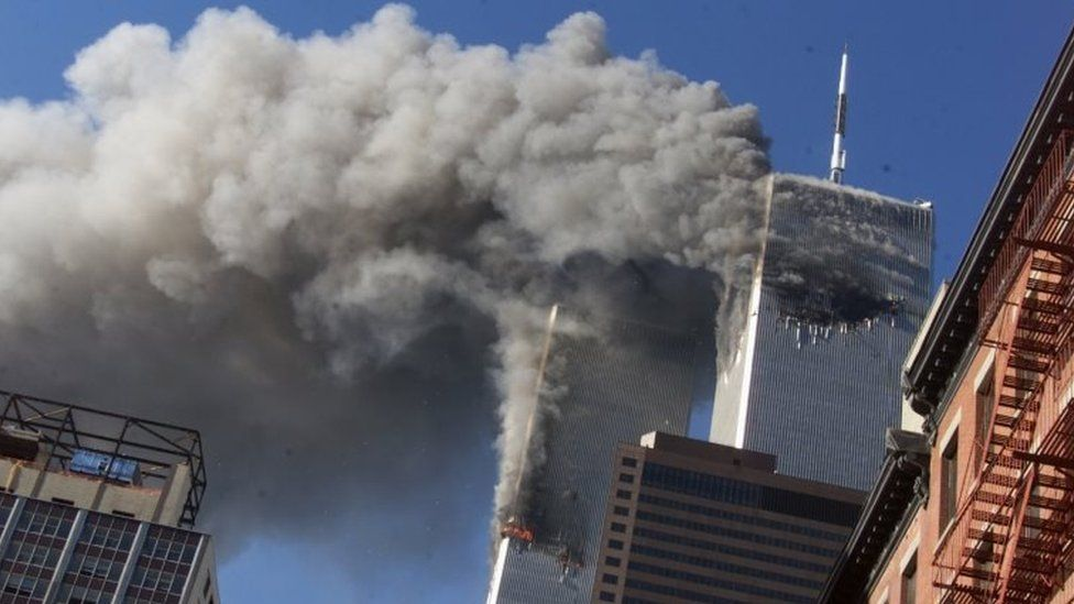 Twin towers attacked in New York