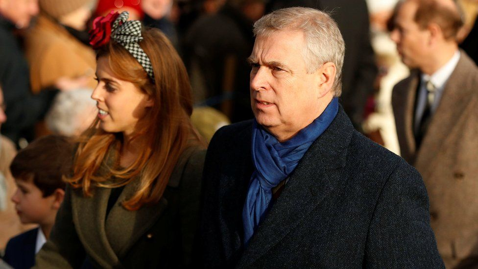 Prince Andrew with his daughter Princess Beatrice