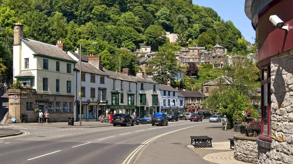 Matlock Bath is popular with tourists