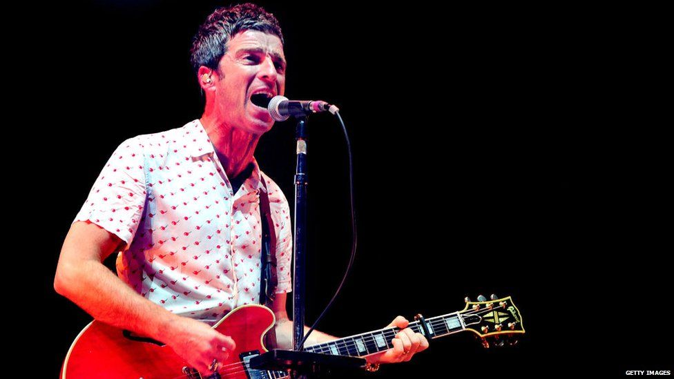 Noel Gallagher playing at We Are Manchester