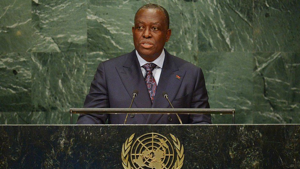Manuel Domingos Vicente, Vice-President of Angola, addresses the 71st session of the United Nations General Assembly at the UN headquarters in New York on September 22, 2016.