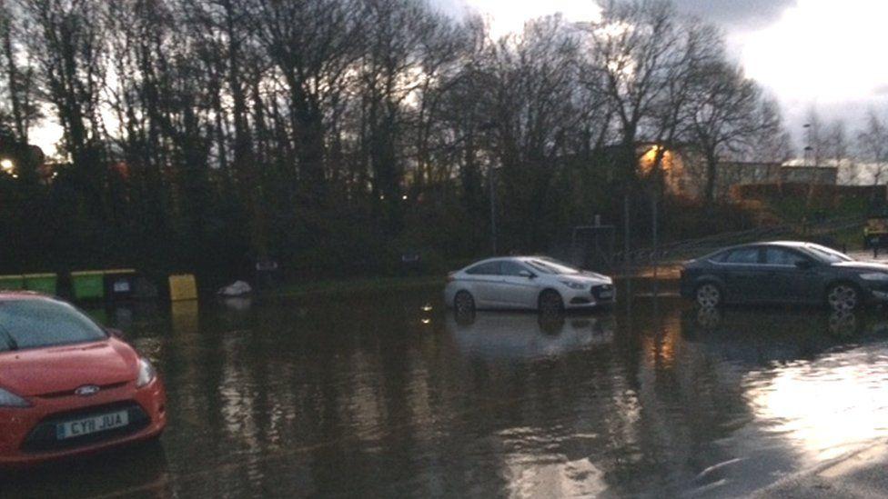 Anglesey council car park at Llangefni