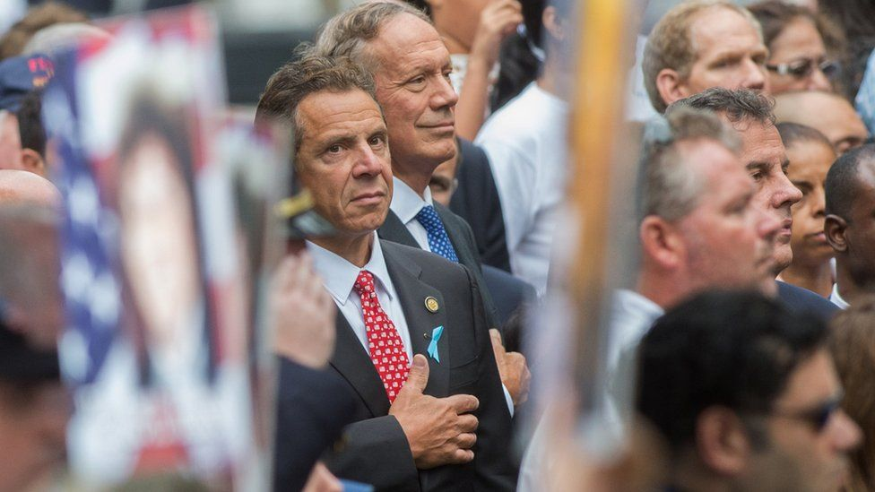 New York Governor Andrew Cuomo at a 9/11 memorial event in New York