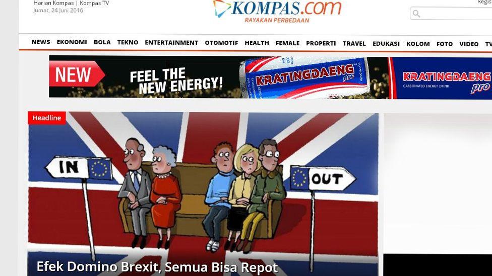 Kompas Indonesia newspaper