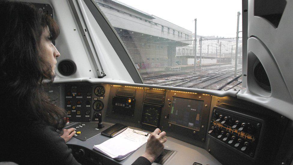 Female train driver in Paris