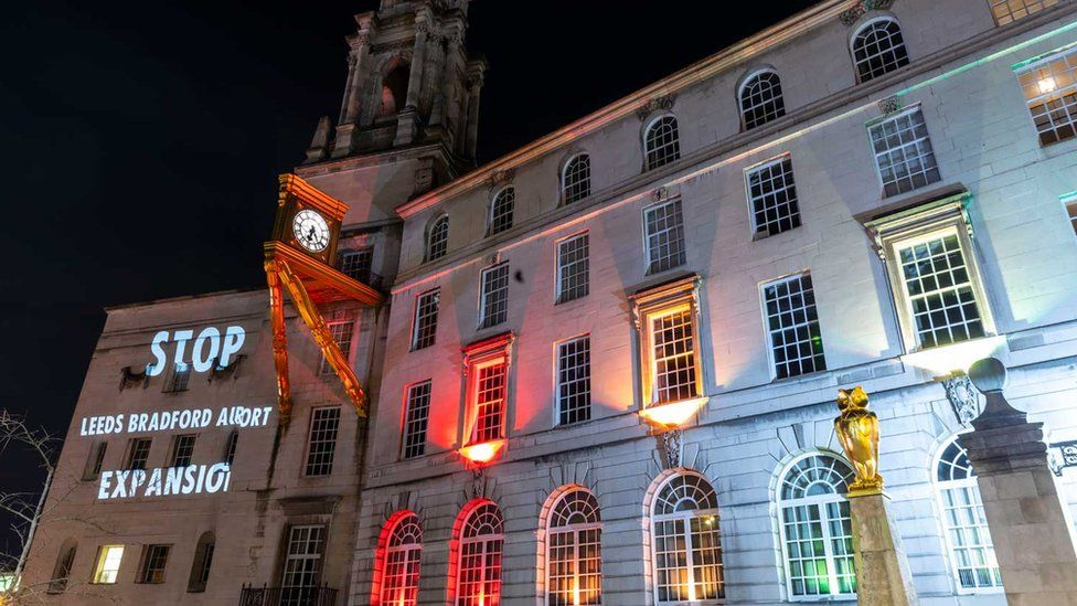 Projection on Leeds City Hall