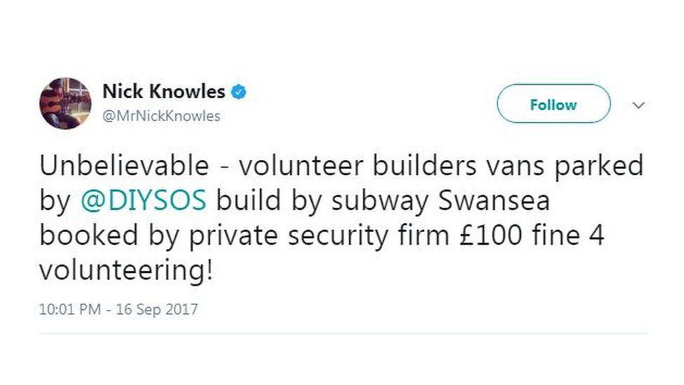 Nick Knowles tweet