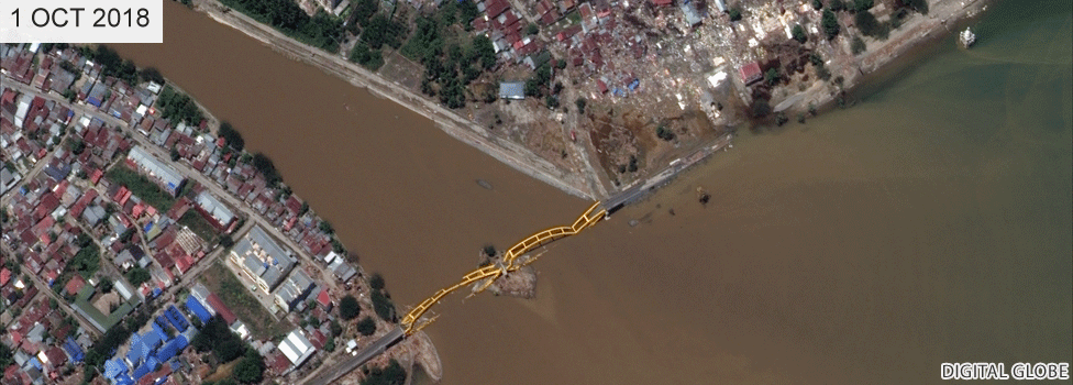 Jemalam bridge after the tsunami has been destroyed