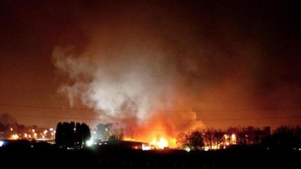 The factory fire