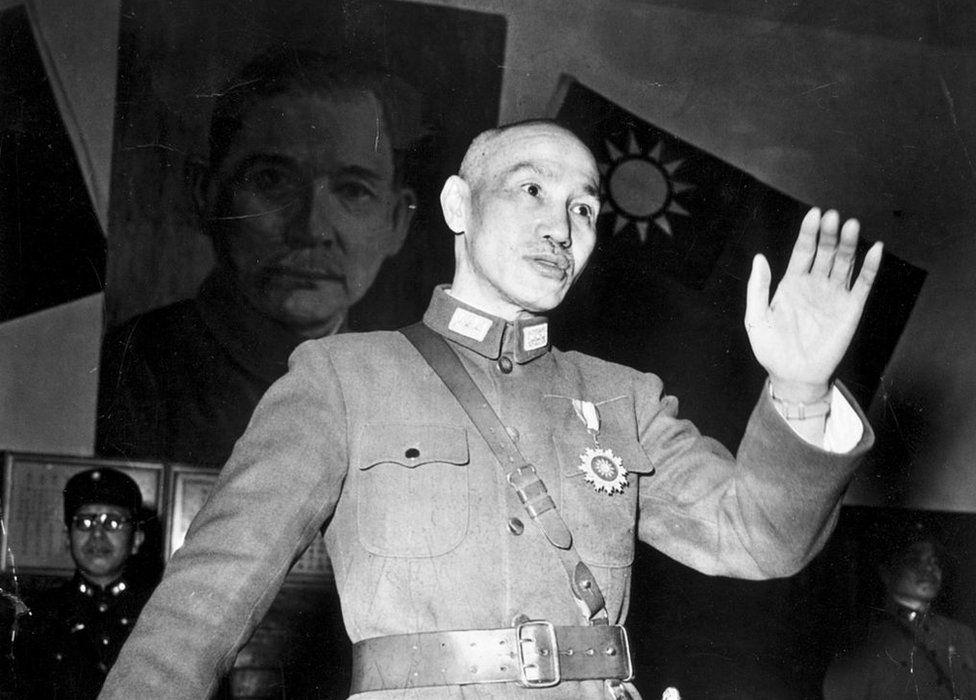 Photo circa 1948: Chinese general and statesman Chiang Kai-Shek (1887 - 1975).