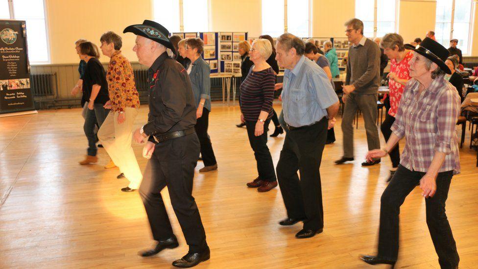 A dance in the refurbished ballroom