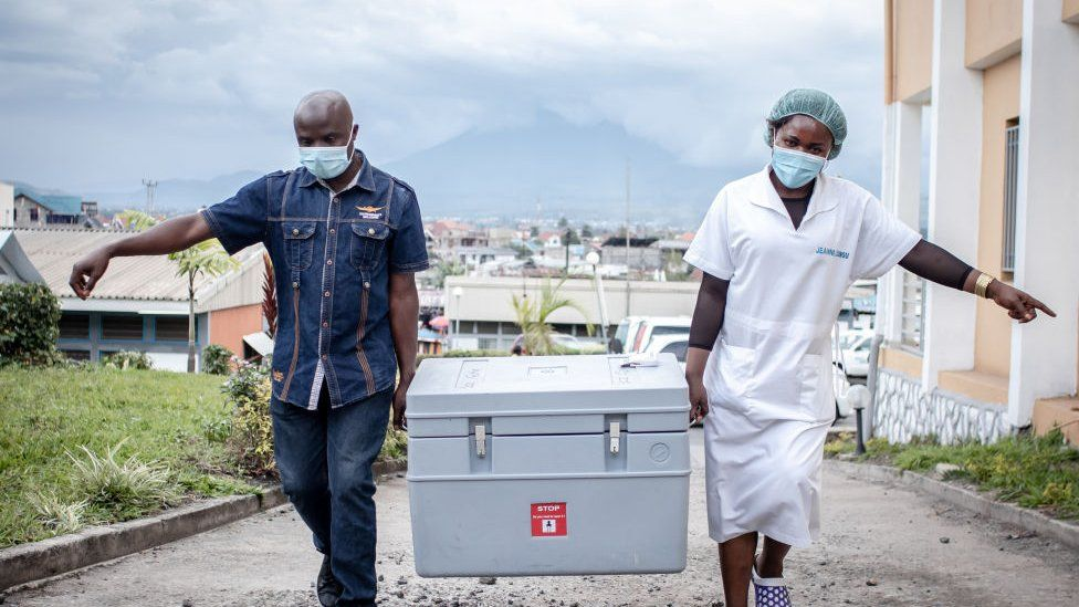 Vaccines being delivered in DR Congo