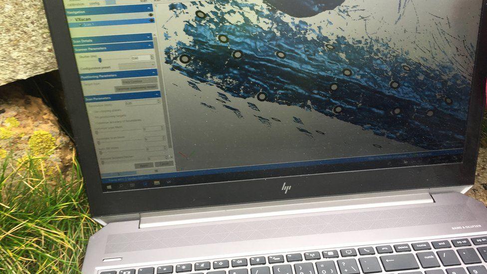 3D model on laptop screen