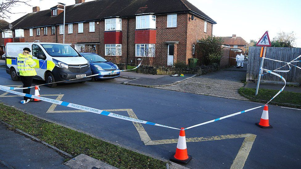 Police cordon on Hurst Drive