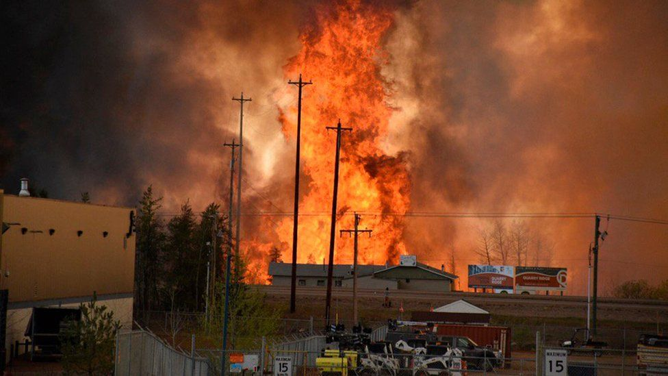 Blaze at Fort McMurray on 3 May 2016