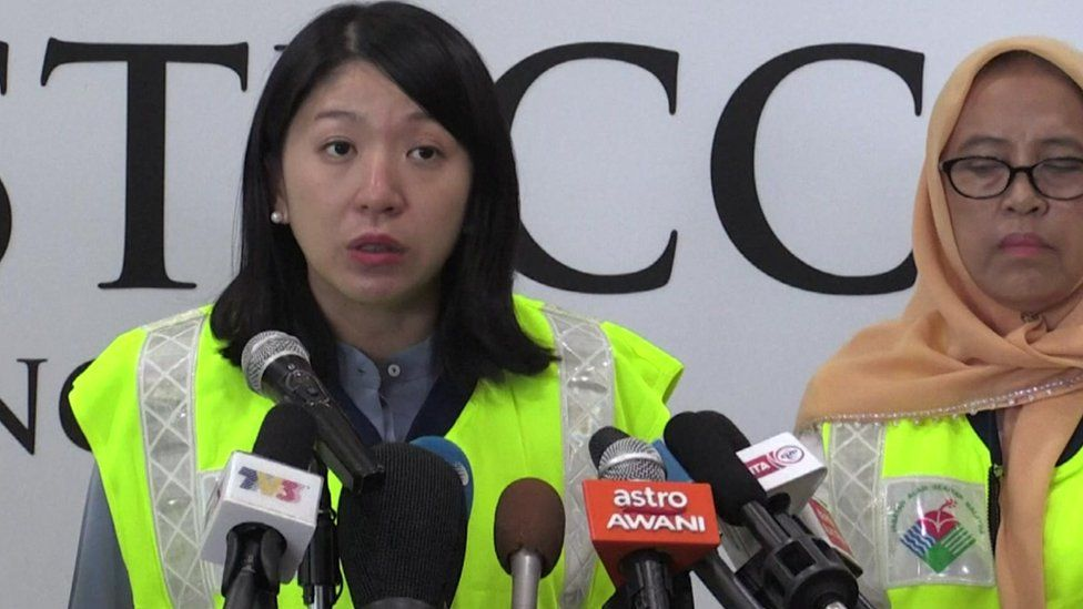Malaysia's environment minister Yeo Bee Yin speaking at a press conference
