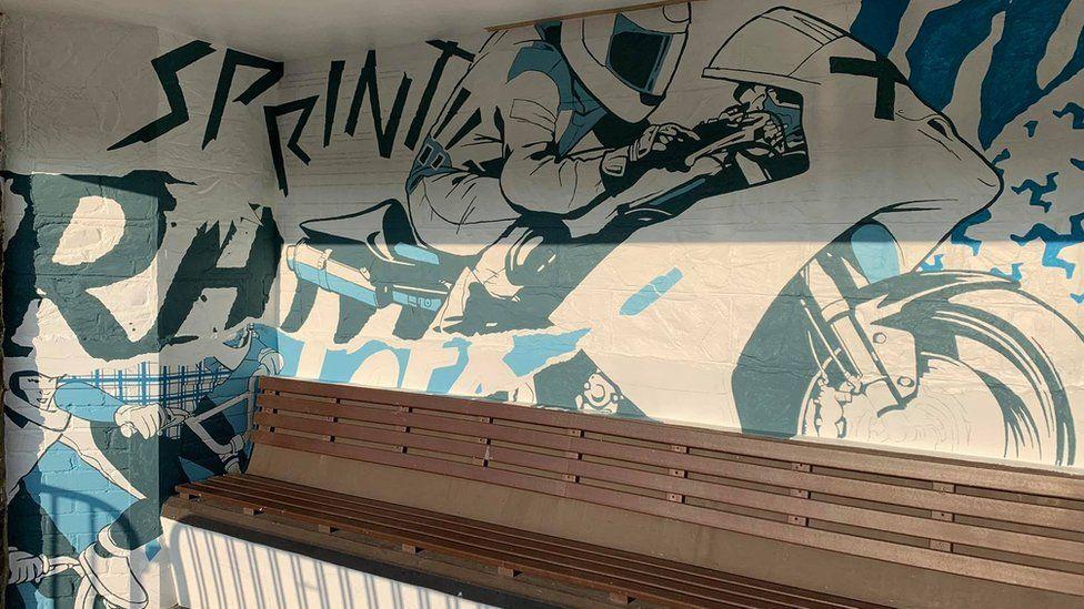 Adam Berry's sprint mural