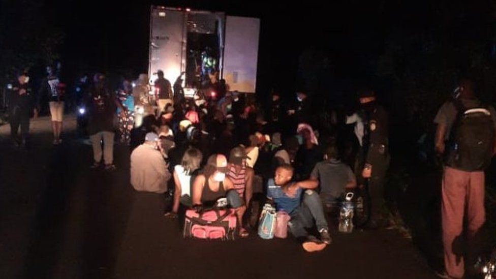Guatemala police free 126 migrants from abandoned container thumbnail