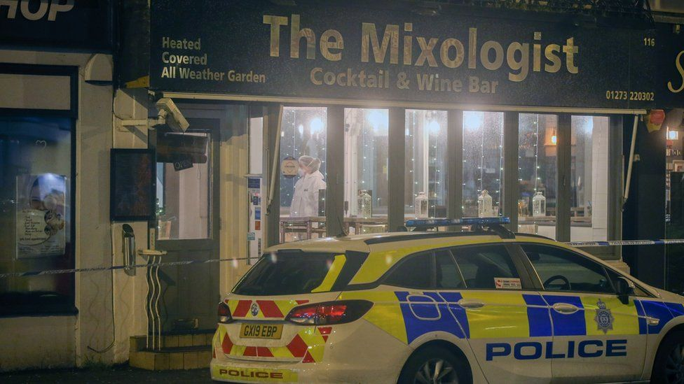 Police at the Mixologist