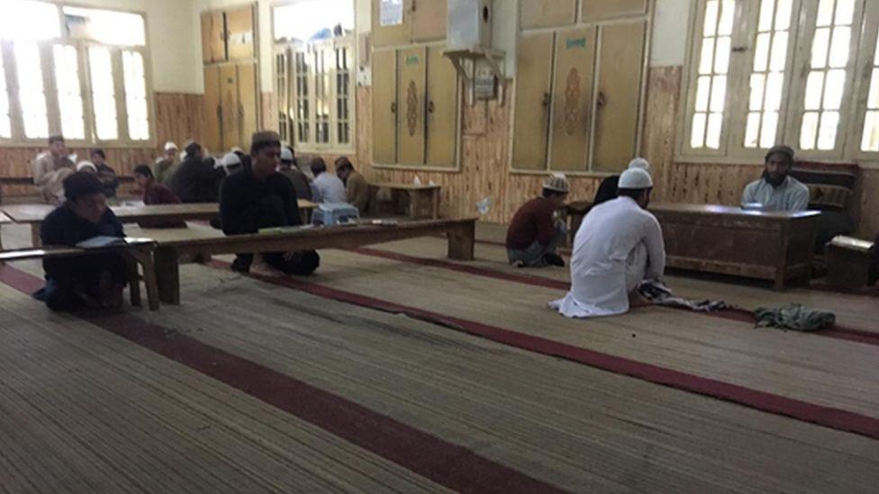 Students inside the Taleem ul Quran madrassa