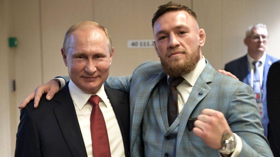 Vladimir Putin and Conor McGregor