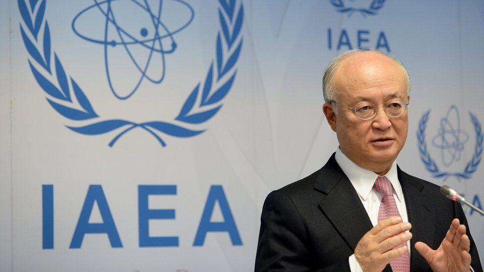 IAEA director general Yukiya Amano addresses reporters in Vienna. 15 Dec 2105
