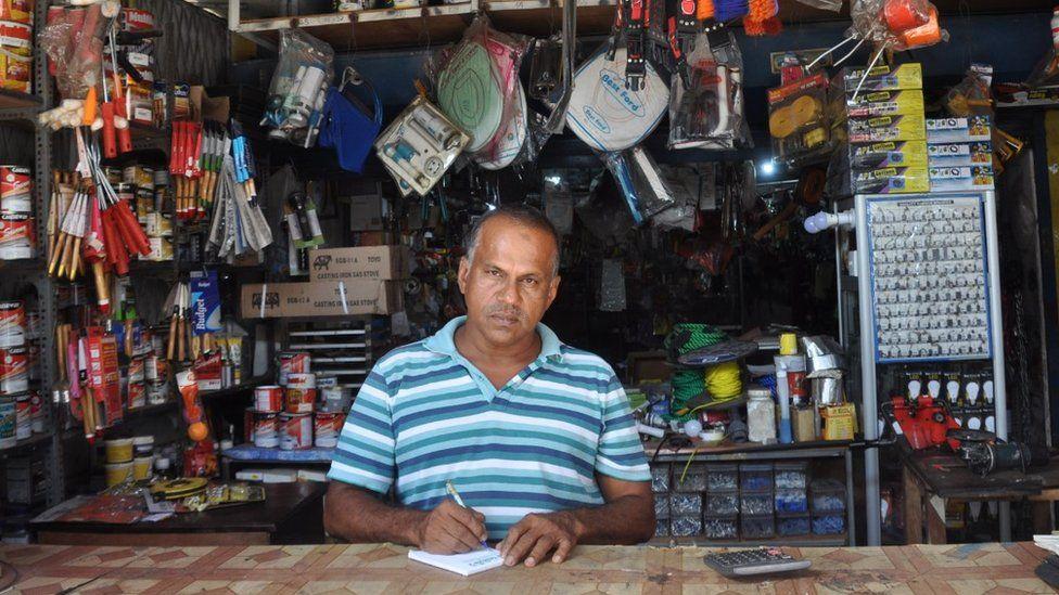 Mohammed Iliyas inside his shop