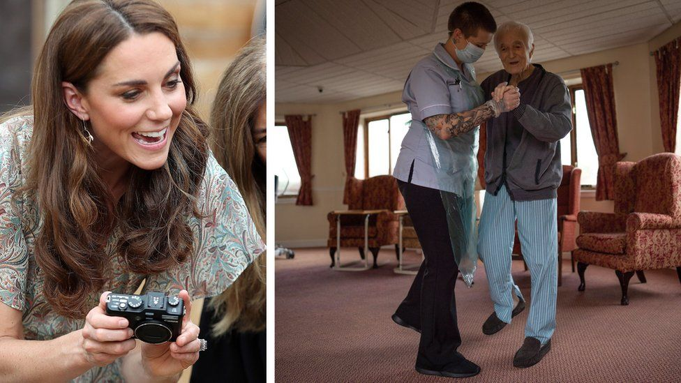 Duchess of Cambridge plus image of patient and carer