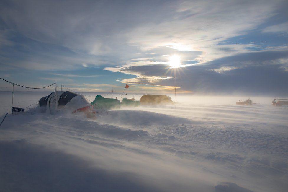 Tents in Antarctica