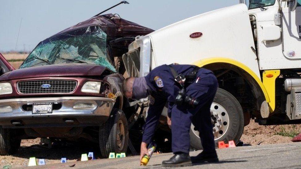 Scene of crash in southern California