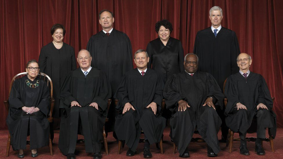 Official photo of the Supreme Court Justices of the United States, 01/06/2017