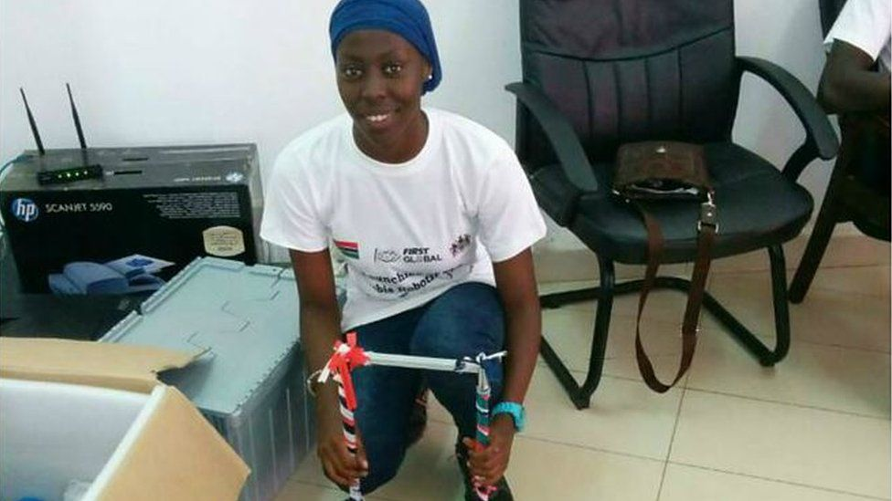 Fatoumata Ceesay of the Gambian robotics team