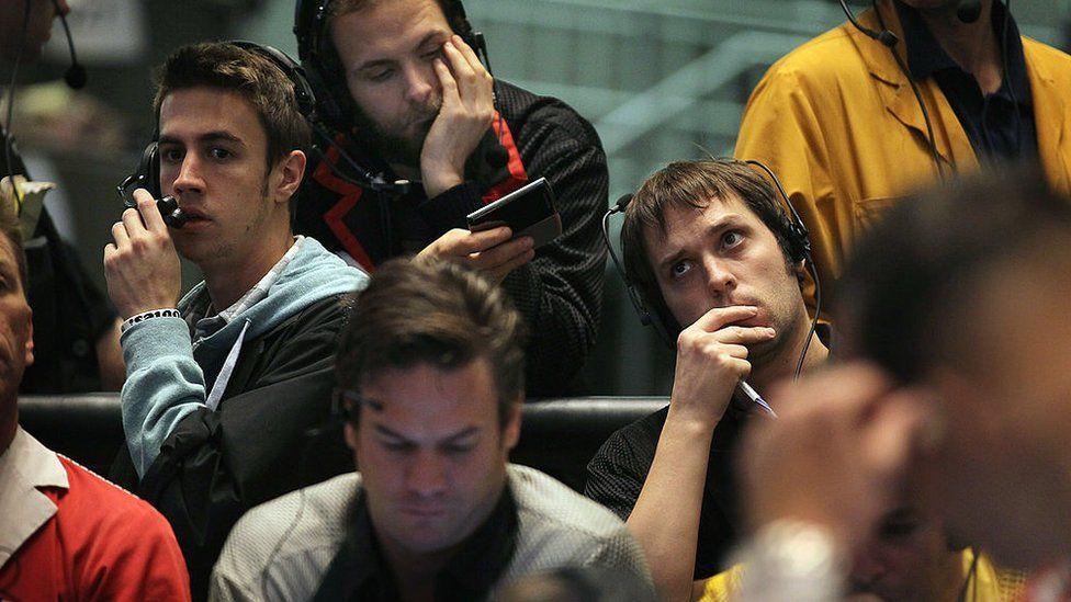 Traders in the eurodollar pit at the Chicago Mercantile Exchange in 2011