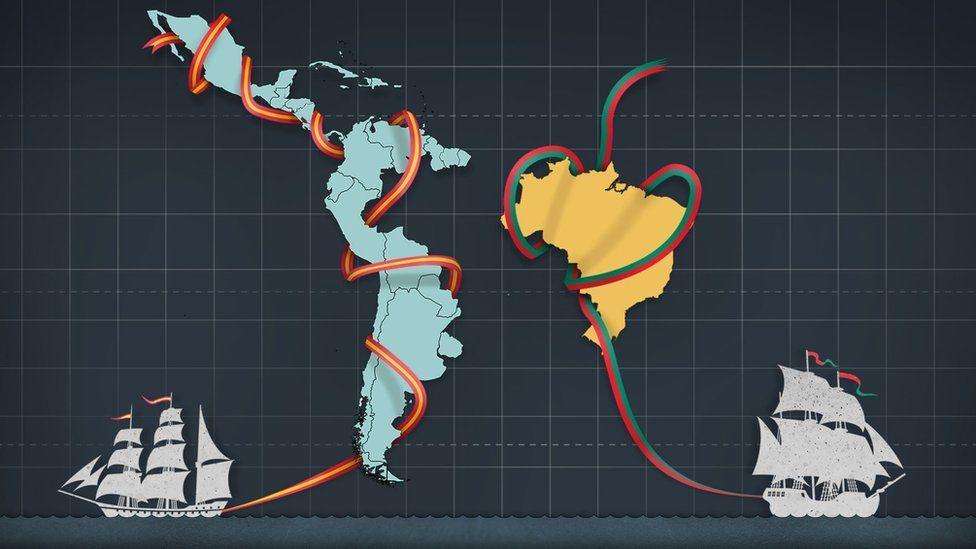 Por que o Brasil continuou um só enquanto a América espanhola se dividiu em vários países?