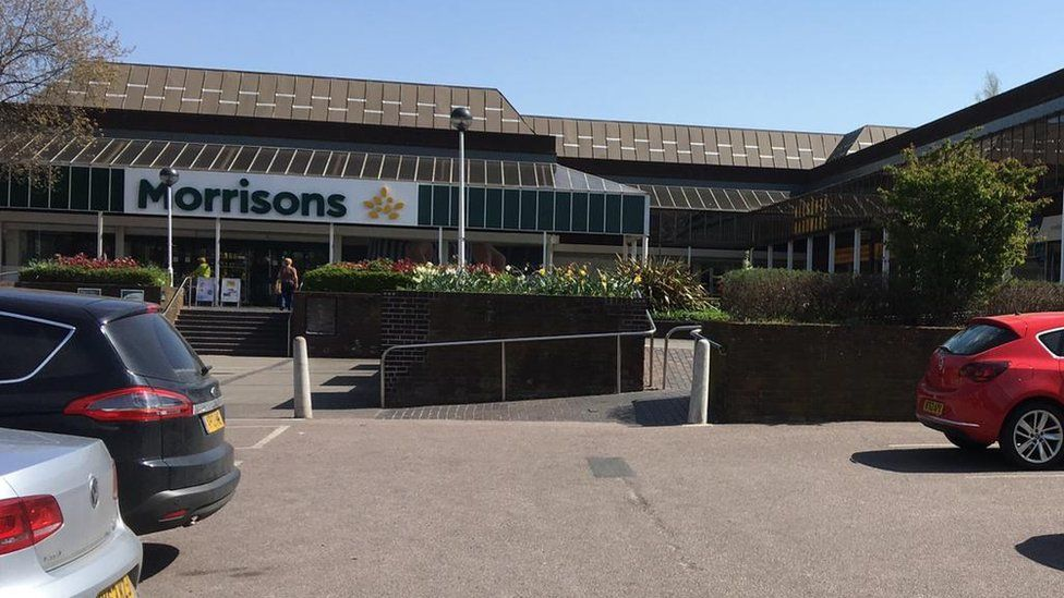 Morrisons supermarket in The Paddocks, Old Catton