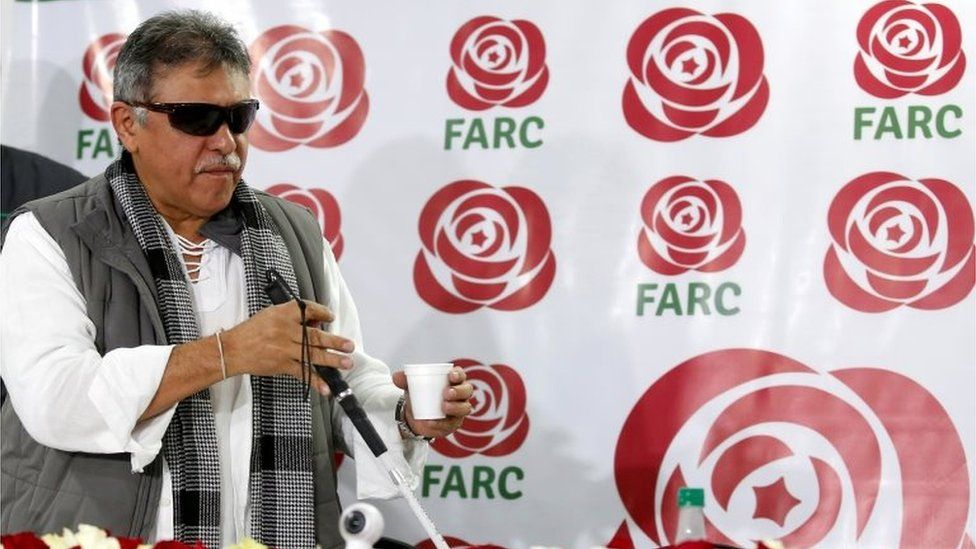 Jesús Santrich when he was campaigning for the Farc political party in November 2017