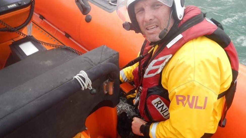Cowes RNLI lifeboat helm Mark Harker
